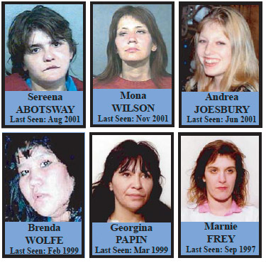 Missing Women - Six Charges